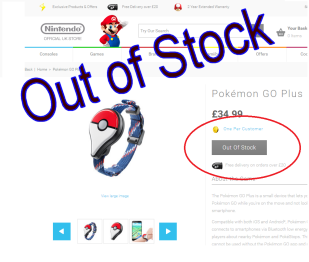 Pokemon GO Plus Pre Order Sell out